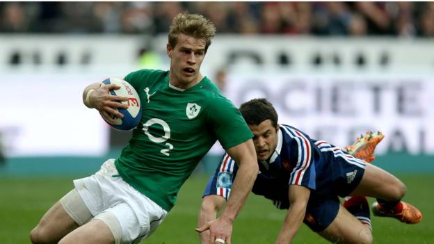 Winger Andrew Trimble enjoyed a fine game and scored one of Ireland's three tries