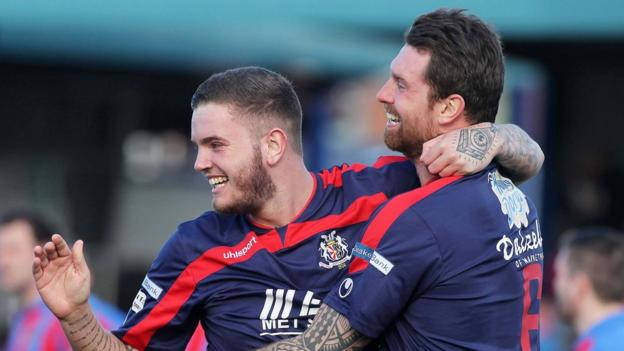 Darren Murray scored the first of Portadown's two goals in the 2-1 victory over Ards