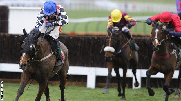 Will it be fourth time lucky for The Giant Bolster (left) at Cheltenham next year?