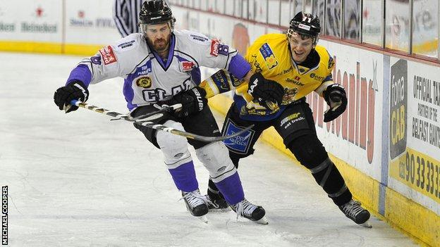 Action from Belfast v Braehead at the Odyssey