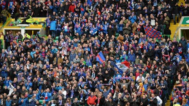 7800 Inverness fans were at Celtic Park for the penalty shoot-out defeat to Aberdeen