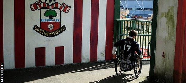 Southampton are among the best Premier League clubs catering for disabled fans