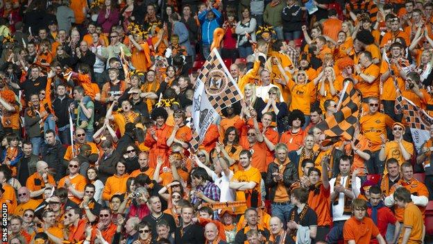 Dundee United fans at the 2010 Scottish Cup final