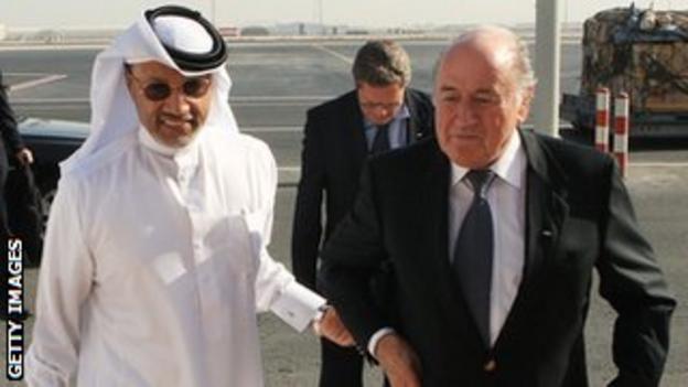 Mohammed Bin Hammam attempted to unseat Fifa President Sepp Blatter in 2011