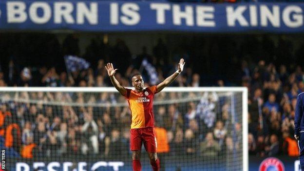 Didier Drogba had a mixed evening on his return to Stamford Bridge
