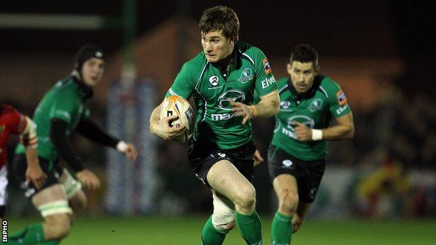 Connacht's Kyle Tonetti has been forced to retire from rugby