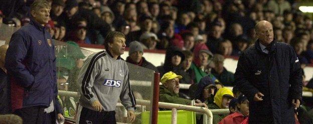 Arsene Wenger and Jim Smith