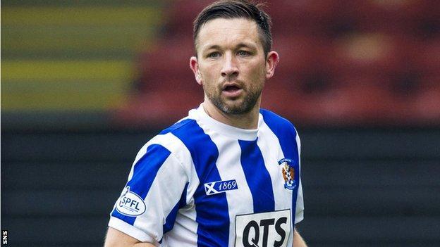 Kilmarnock midfielder Barry Nicholson