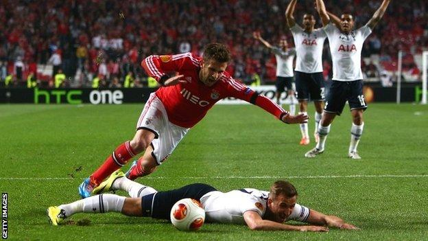 Benfica survive a late Harry Kane penalty appeal which would have taken the tie to extra-time