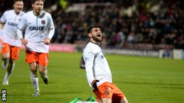 Nadir Ciftci's solo effort was the highlight of Dundee United's 2-1 win over Hearts