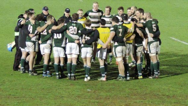 Ealing celebrate their win