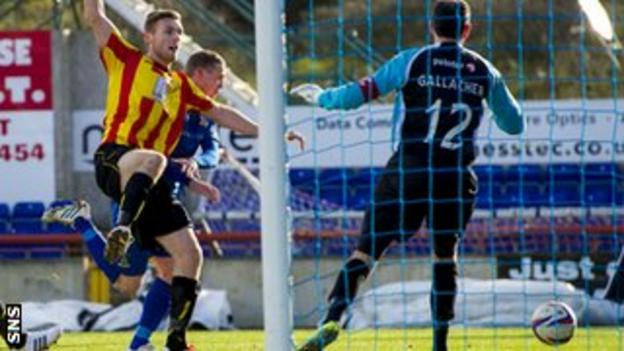 Billy McKay heads Inverness in front against Partick Thistle, ending a run of six games without a goal.