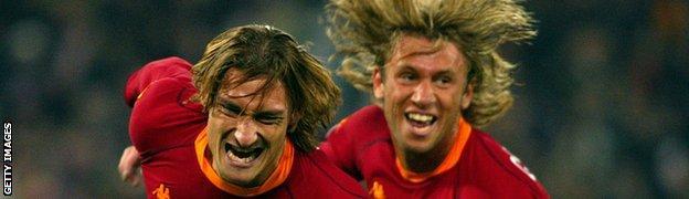 Francesco Totti and Antonio Cassano