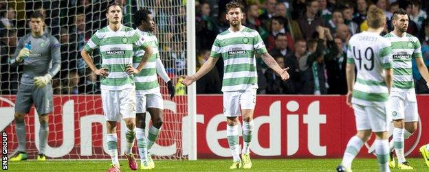 Celtic lost five of their six matches in Champions League Group H