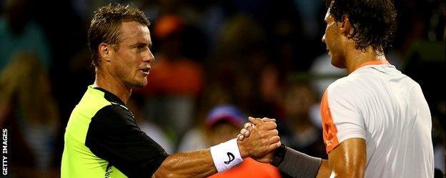 Lleyton Hewitt and Rafael Nadal