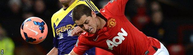 Manchester United's Javier Hernandez has had limited opportunities at Old Trafford.