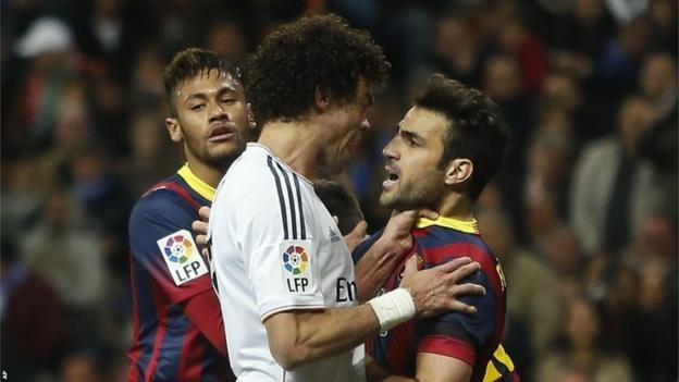 Pepe and Cesc Fabregas