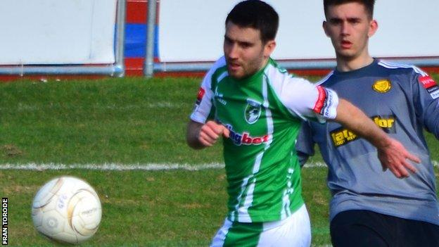 Ross Allen missed a penalty for Guernsey