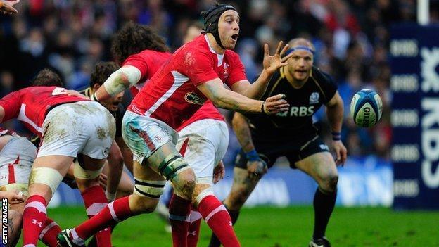 Wales forward Ryan Jones in action
