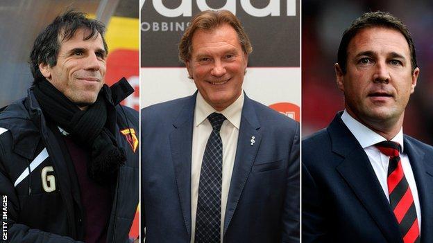 Gianfranco Zola, Glenn Hoddle and Malky Mackay