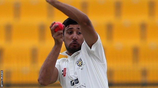 Durham bowler Usman Arshad