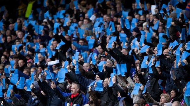 Rangers supporters at Ibrox