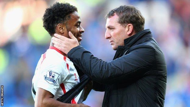 Raheem Sterling and Liverpool boss Brendan Rodgers