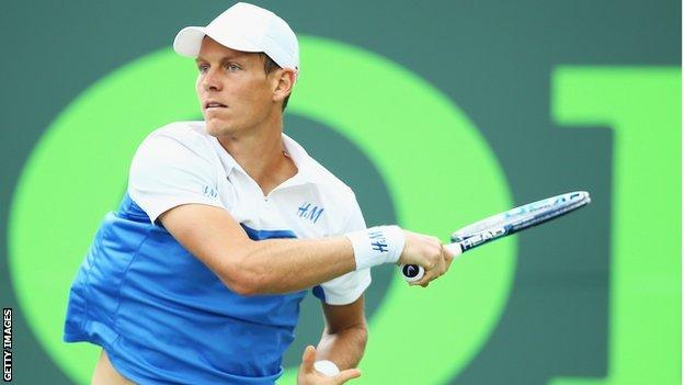 World number seven Tomas Berdych