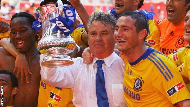 Guus Hiddink won the FA Cup with Chelsea in 2009