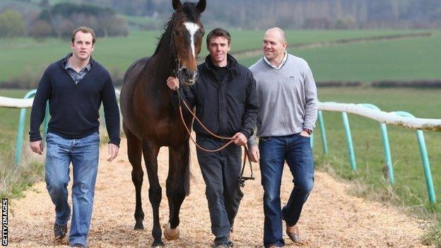 James Simpson-Daniel, Monbeg Dude, Michael Scudamore and Mike Tindall