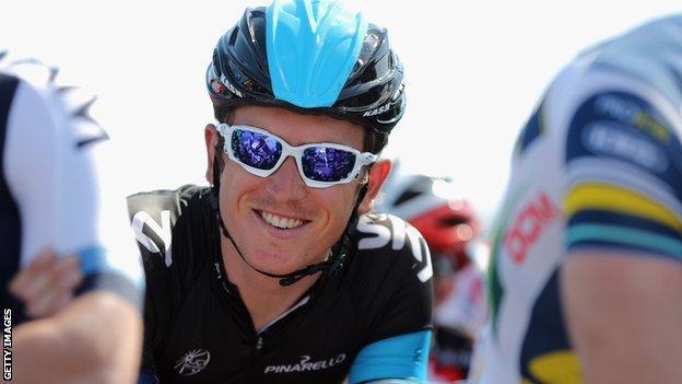 Team Sky rider Geraint Thomas