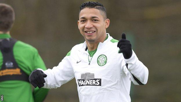 Celtic full-back Emilio Izaguirre