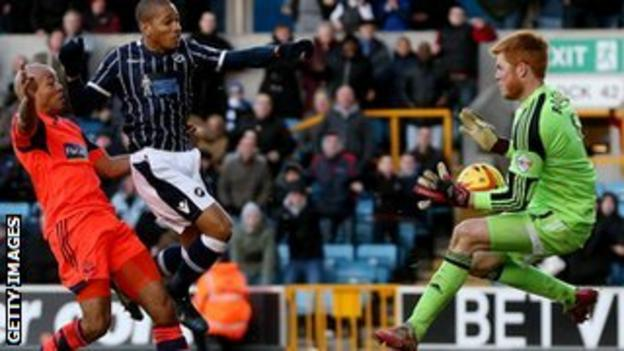 Millwall striker Simeon Jackson