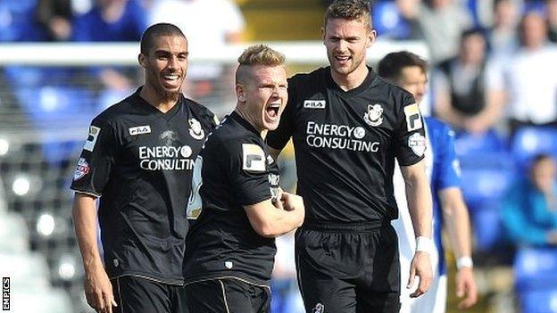 Matt Ritchie celebrates scoring Bournemouth's opening goal