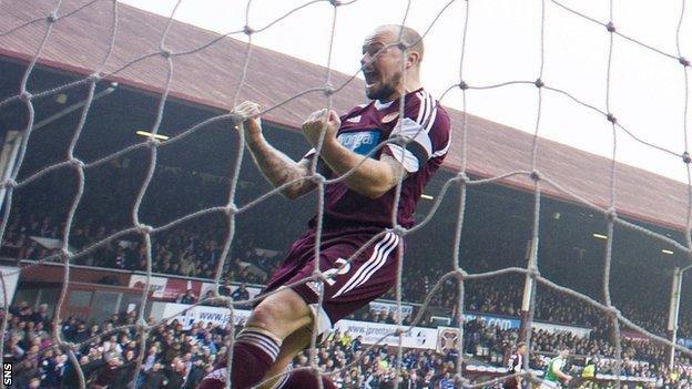 Hearts player Jamie Hamill