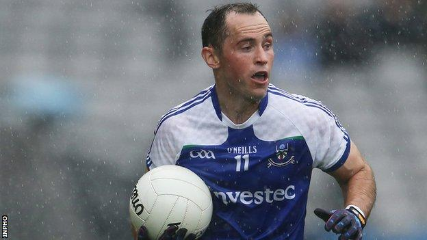 Stephen Gollogly performed impressively for Monaghan after being introduced