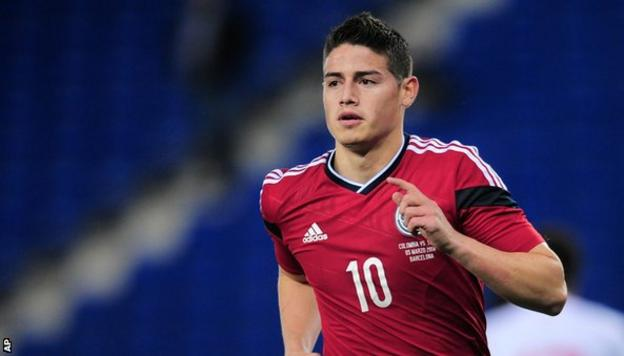 Colombia's Monaco midfielder James Rodriguez