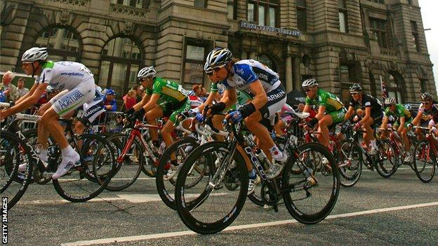 Liverpool has hosted stages of the Tour in 2006, 2007 and 2008