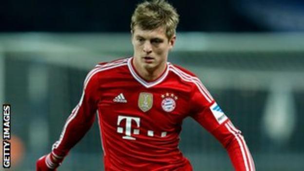 Bayern Munich midfielder Toni Kroos
