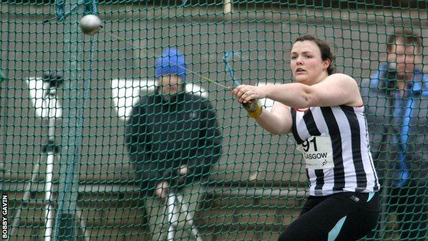 Scottish hammer thrower Rachel Hunter