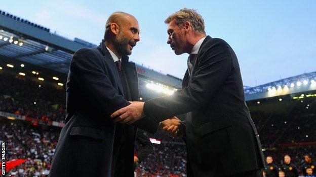 Pep Guardiola & David Moyes