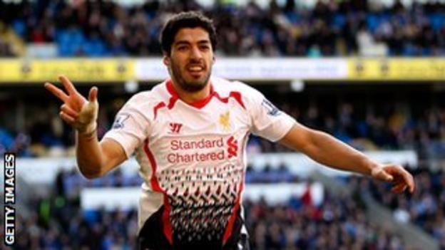 Luis Suarez has scored 29 goals in 31 appearances for Liverpool this season