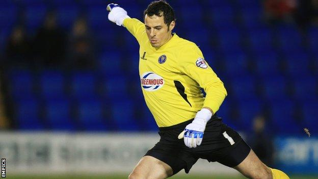 Shrewsbury Town keeper Chris Weale