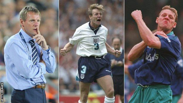 Three images of Stuart Pearce