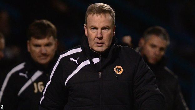 Wolves head coach Kenny Jackett