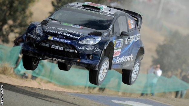 Elfyn Evans' car in Portugal