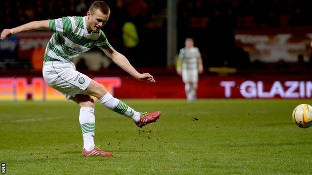 Liam Henderson scores for Celtic against Partick Thistle