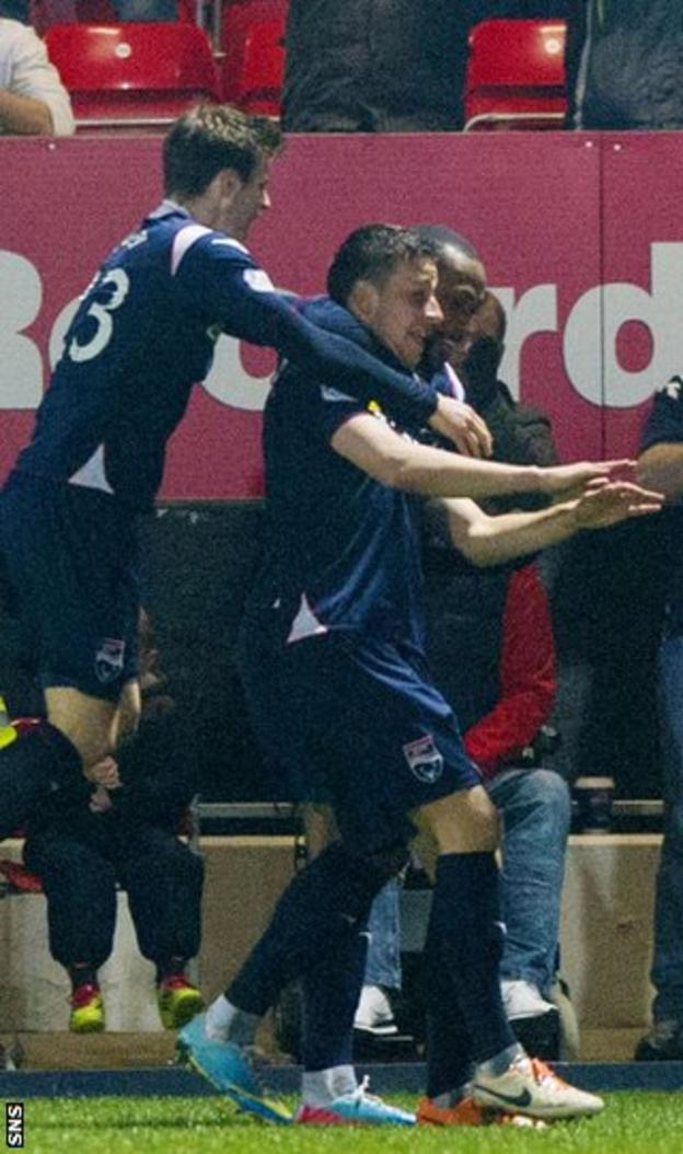 Filip Kiss' deflected shot pulled Ross County level just after half-time