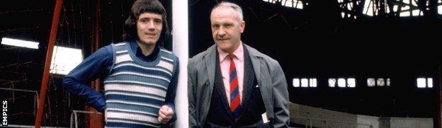 Former Liverpool striker Kevin Keegan (left) and ex-Reds manager Bill Shankly
