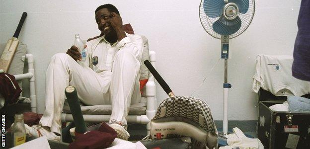 Lara reflects on the world record in the sanctuary of the West Indies dressing room